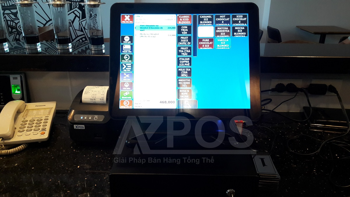máy tính tiền quán cafe tại buôn ma thuột