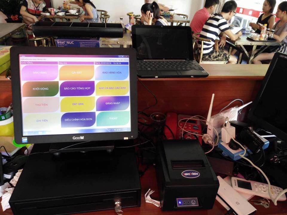 máy tính tiền quán cafe nhỏ