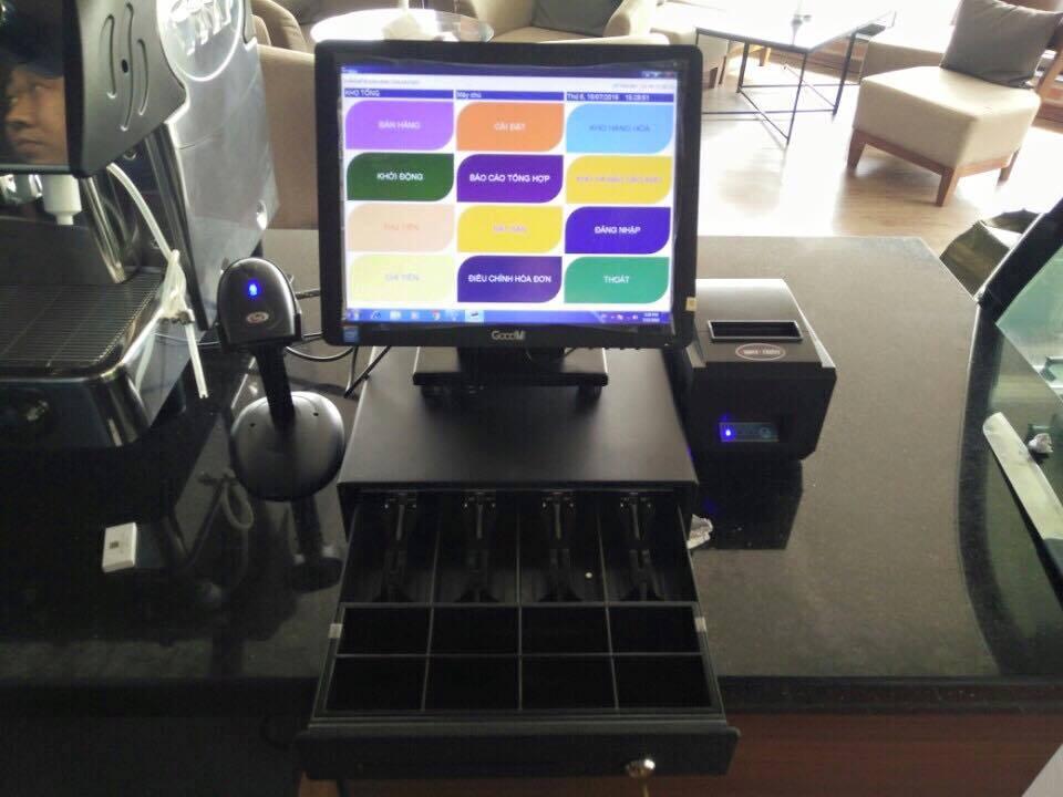 máy tính tiền cảm ưngs quán cafe nhỏ