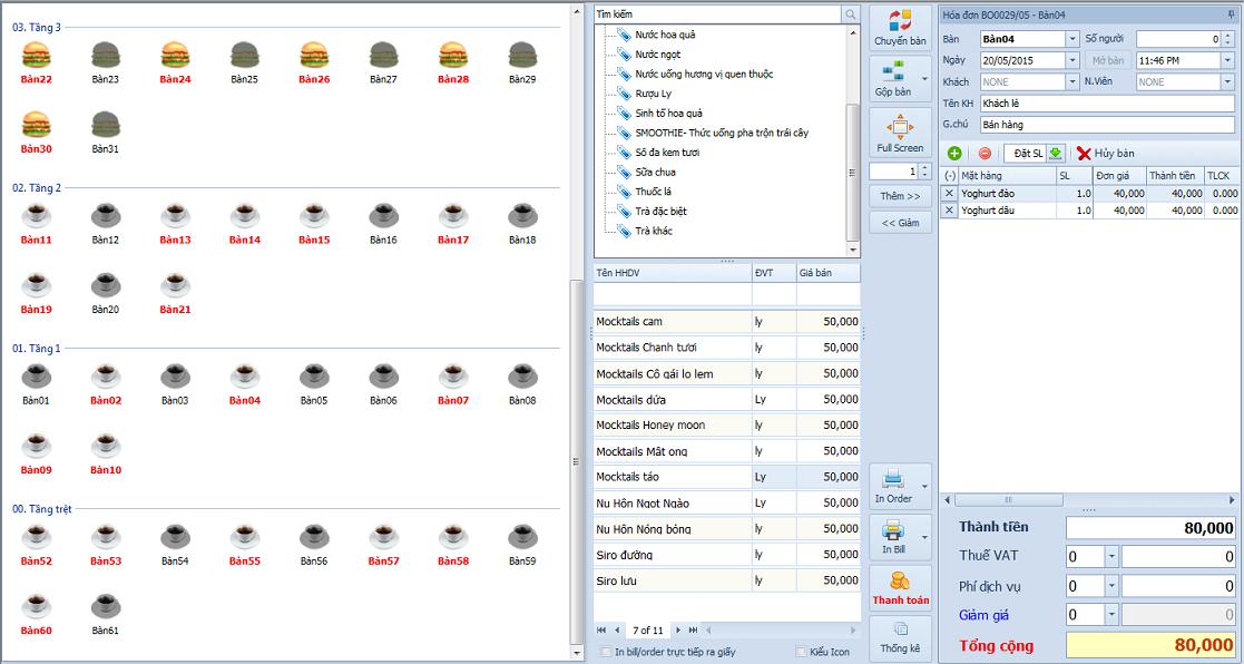 phần mềm quản lý quán cafe miễn phí