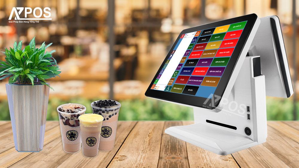 Máy tính tiền quán trà sữa cảm ứng