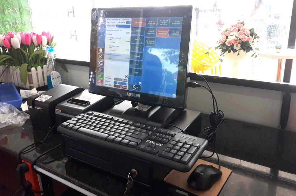 Máy tính tiền cảm ứng Azpos tại cần thơ dành cho nhà hàng quán ăn quán cafe